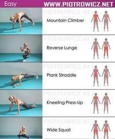Workout plan! This is an awesome explanation of what the ab workouts do for your body!