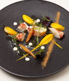 This intricate lobster and carrot recipe from David Everitt-Matthias is a sympthony of delicate, Sweet flavours, Offset by smooth buttermilk purée and a wonderful spiced crumb.
