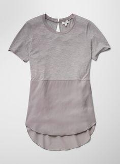 Wilfred (Aritzia) | Capucine T-Shirt in heather ashen/ashen