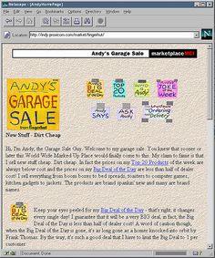 Andy's Garage Sale (Fingerhut), marketplaceMCI website, 1996