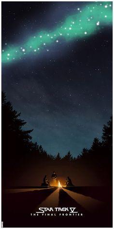 Awesome Poster Art for Original STAR TREKFilms - News - GeekTyrant (Star Trek V: The Final Frontier)