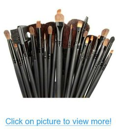 Etree 32 PCS Professional Beauty Cosmetic Makeup Brush Set Kit with Pouch Black