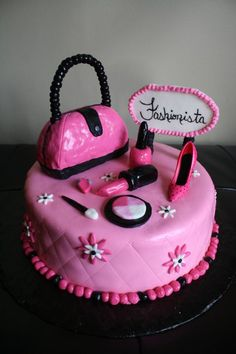 Fashionista Cake Black Amp Pink Cake Torta Fashionista
