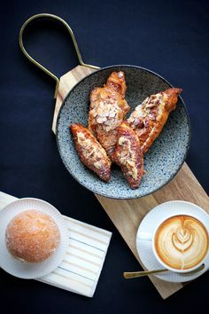 Sugarbuns, pastries and creative lattes in giovane café + eatery + market Italian Wine, Pastries, Baked Goods, Latte, Brunch, Homemade, Dining, Breakfast, Creative