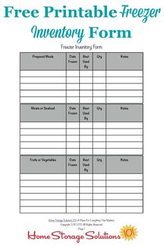Printable Clothing Inventory Form | Free printable and You ve
