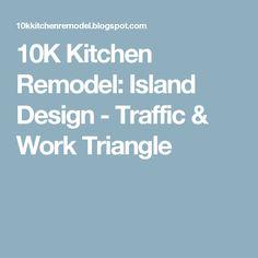 10K Kitchen Remodel: Island Design - Traffic & Work Triangle