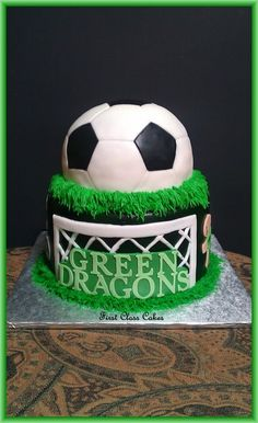 """Soccer Cake """"may there be many world cup games in our future"""""""