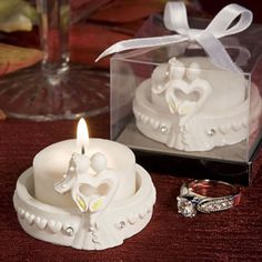 Elegant Heart Design Favor Saver Candles. Adorable memorable wedding favors! http://www.favorfavor.com/page/FF/PROD/8305