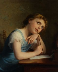 Distant Thoughts :: Fritz Zuber-Buhler - Portraits of young girls in art and painting
