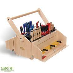 Wood toolbox - vertical screwdriver storage werkzeugkoffer