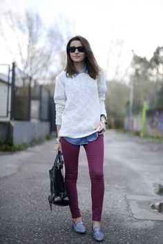 Colored Denim and Lovely Layers.