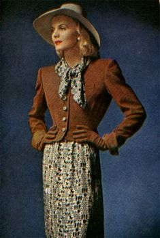 1945 Jo Copeland dress suit