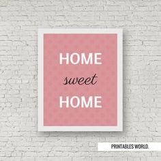 Home Sweet Home Printable Poster Instant by PrintablesWorld