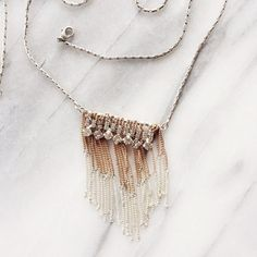 Layered Long Necklace w/ Rhinestones Long necklace with layered metal strands (copper + silver) and rhinestone detailing. Perfect condition, worn once. American Eagle Outfitters Jewelry Necklaces