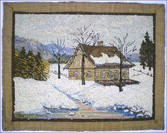 Textile Tapestry, Rug Hooking Designs, Vintage Hooks, New England States, Hand Hooked Rugs, Canadian Artists, Wool Applique, Art Studies, Wool Rug