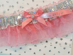 Prom Garters Coral Prom Garter Custom Colors by Promgarterevent, $20.00