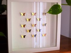 Check out paper butterflies/ wedding / home decoration / wall art / wall decor / butterfly / present / Valentines Day on gosiaandhelena 3d Wall Decor, 3d Wall Art, Framed Wall Art, Butterfly Wall Art, Paper Butterflies, Origami, Housewarming Decorations, Valentines Day Messages, Butterfly Wedding