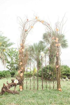 Peach and Coral Florida Wedding at Powel Crosley Estate from 1313 Photography - MODwedding