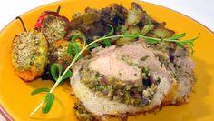 Pork Loin Stuffed with Herbs (Lombo di maiale ripiene alle erbe aromatiche)  Wow...best pork lion recipe on Pinterest, hands down
