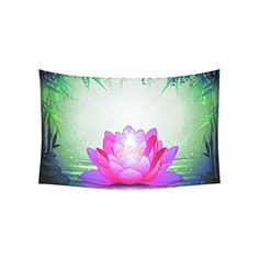 Home Decor Lotus Flower in Tranquil Zen Garden Tapestry Wall Hanging 40 X 60 Inches ** Read more at the image link.-It is an affiliate link to Amazon. #Tapestries