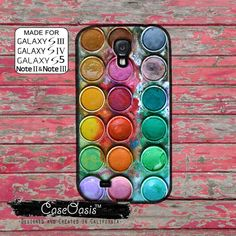 Paint Palette Watercolor Rainbow Colors Cute Art Tumblr Custom Galaxy S5 and S4 and S3 Case and Galaxy Note 2 and Note 3 Case