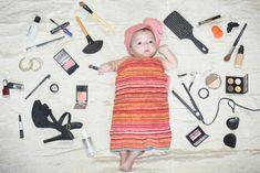 Baby girl photography, baby photoshoot, 2 months old, baby girl