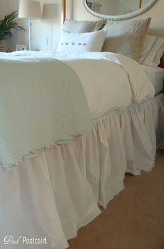 Home made bed skirt