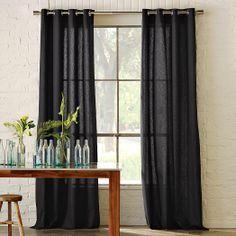 Linen cotton grommet curtain