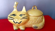 The Most Retro Kitty Cat Cookie Jar You'll Ever Find