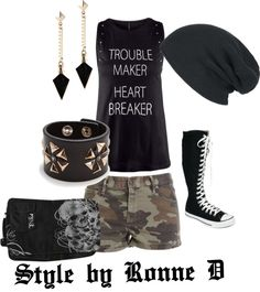 """""""She was a Skater Girl"""" by style-by-ronne on Polyvore"""