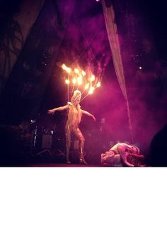 The Dreamiest Instagram Pics From Coachella #refinery29  http://www.refinery29.com/instagram-pics-from-coachella#slide-14  The human torch makes an appearance. Photo: Via @milkstudios...