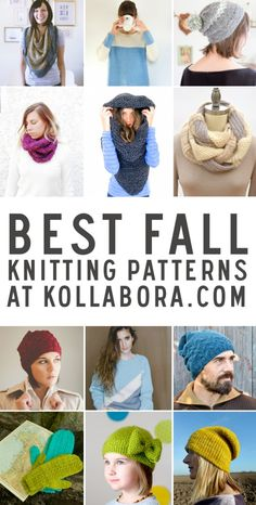 Most necessary knitting patterns for the fall and winter!