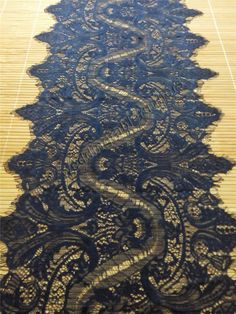 """30ft navy lace Table runner,  12""""  , lace table runner,  wedding  table runners,  navy lace runner , 15011501"""
