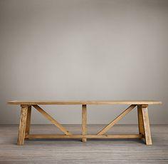 Esta mesa tipo campo es espectacular!!! Realizada con madera recuperada. Me encantaría tener un comedor grande donde ponerla y llenarla de invitados!