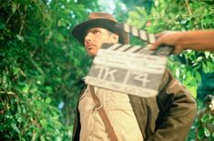 "Harrison Ford filming ""Raiders of the Lost Ark"""
