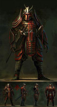 Mandalorian Samurai Boba Fett by toRRti