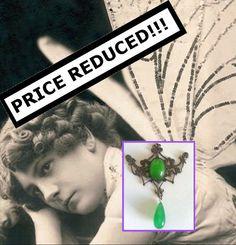 Authentic Art Nouveau Lavalier for Repurpose Destash Remake Price Reduced by LovesUnique on Etsy