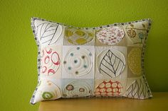 Inspiration for all my FMQ practices...  This beautiful pillow is By stitchindye.