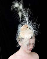 Wedding hat, White #Peacock Wedding ...Wedding App for brides & grooms, bridesmaids & groomsmen, parents & planners ... the how, when, where & why of wedding planning ... https://itunes.apple.com/us/app/the-gold-wedding-planner/id498112599?ls=1=8  ♥ The Gold Wedding Planner iPhone App ♥