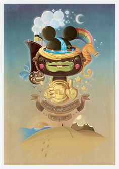 In the Name of the Mouse by Boris Hasabike, via Behance