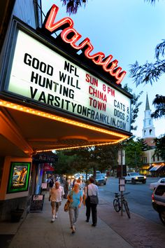 The Varsity Theatre on Franklin Street, Chapel Hill, NC