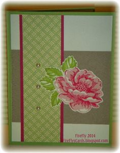 Combos for 2-step stamping Old Olive & Pear Pizzazz Rose Red & Blushing Bride