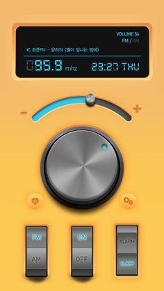 Simple radio app - 디지털 아트, UI/UX