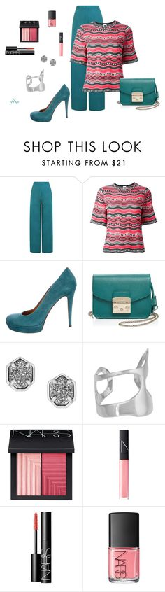 Teal by dmiddleton on Polyvore featuring M Missoni, WearAll, Gucci, Furla, Kendra Scott and NARS Cosmetics