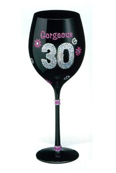Louies Gift Shack - 30th Birthday Gorgeous Wine Glass Goblet, $13.50 For the birthday girl <3