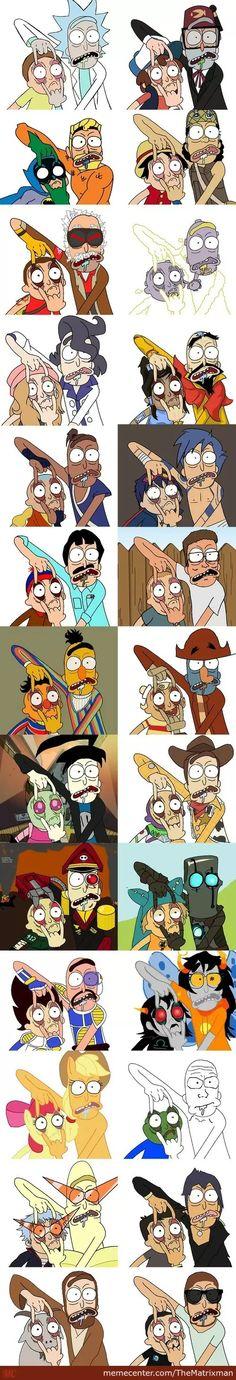 Rick and morty - Rick und morty - Lenora Rick And Morty Drawing, Rick I Morty, Rick And Morty Poster, Cartoon Crossovers, Cartoon Art, Graphic, Character Art, Cool Art, Graffiti