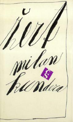 Kundera, Milan.  Žert. Cs. spisovatel Praha 1969 Cover by Zdenek Seydl.