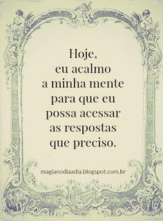 Magia no Dia a Dia: Afirmação Positiva http://magianodiaadia.blogspot.com.br/