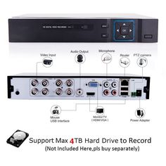4CH 1080N 5 in 1(Compatible TVI,CVI,AHD,DVR,IPC) CCTV DVR H.264 Security Surveillance Video Record Smartphone PC Easy Remot  Price: 80.00 & FREE Shipping  #tech|#electronics|#home|#gadgets Dvr Cctv, Ptz Camera, Digital Video Recorder, Remote Viewing, Software Support, Security Surveillance, Smartphone, Fun Gadgets