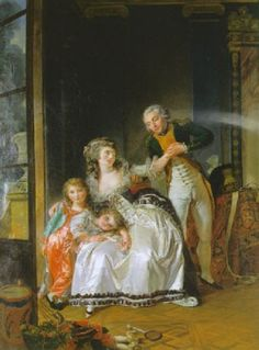 Vicomte de Sainte Hermine and Family, 1784, by Louis Rolland Trinquesse